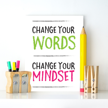 Growth Mindset Posters - PRINTABLE - Bright Encouraging Classroom Decor