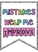 Growth Mindset Posters - Pastel Brights Bunting!