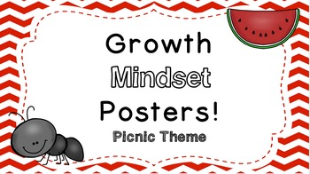 Growth Mindset Posters:  Picnic Theme!