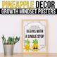 Growth Mindset Posters Pineapple, Growth Mindset Bulletin Board Ideas