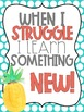Growth Mindset Posters Pineapple Themed
