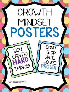 Growth Mindset Posters- Polka Dot Theme