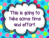 Growth Mindset Posters - Polka Dots
