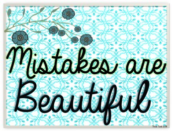 Growth Mindset Posters - Positive Quotes- Watercolor