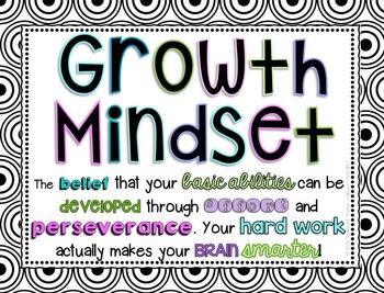 Growth Mindset Posters, PowerPoint, and Printables