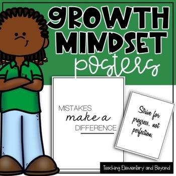 75 Growth Mindset Posters {Printer Friendly Black & White Set}