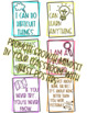 Growth Mindset Posters (READY TO PRINT)