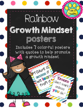Growth Mindset Posters Rainbow