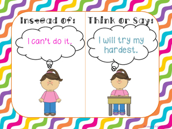 Growth Mindset Posters - Rainbow Bright Theme