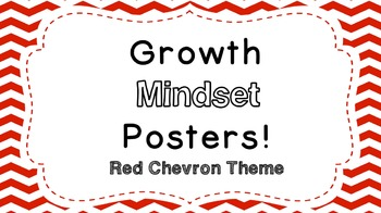 Growth Mindset Posters: Red Chevron Theme!