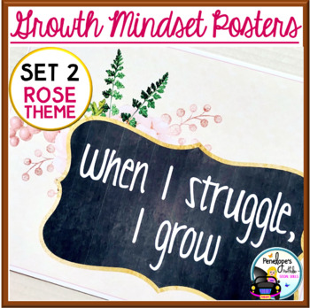 Growth Mindset Posters - Rose Set 2