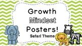 Growth Mindset Posters: Safari Theme!