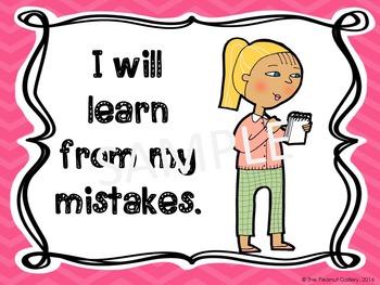 Growth Mindset Posters (School Kids Theme)