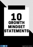 Growth Mindset Posters (Set of 10)