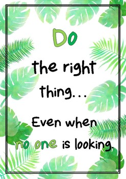 Growth Mindset Posters Set of 3 - Tropical Theme FREEBIE