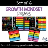 Growth Mindset Posters (Set of 6)