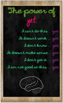 Growth Mindset Posters Shabby Chic