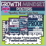Growth Mindset Posters: Sparkly Nicole Color Pack