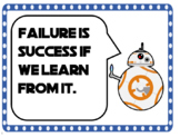 Growth Mindset Posters Star Wars Theme 40 total AVID Weekl