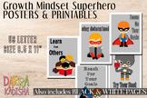 Growth Mindset Posters - Superhero