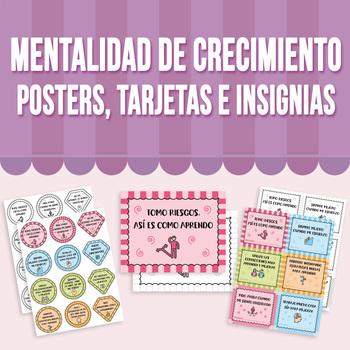 Mentalidad de Crecimiento - Posters, Tarjetas e Insignias