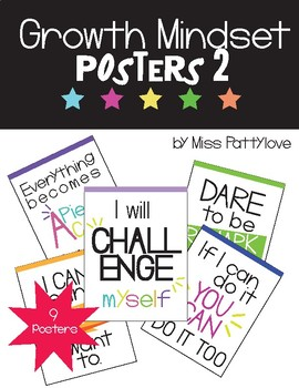 Growth Mindset Posters! Vol.2