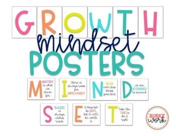 Growth Mindset Posters/Wall Art