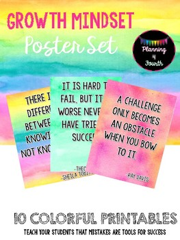 Growth Mindset Posters-Watercolor