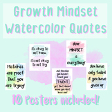 Growth Mindset Posters - Watercolor Quotes