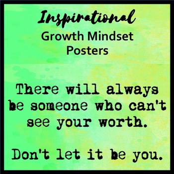 Growth Mindset Posters - Watercolor Theme