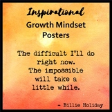 Growth Mindset Posters - Watercolor Theme II