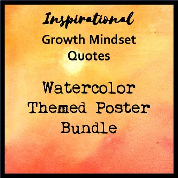 Growth Mindset Posters - Watercolor Themed Bundle