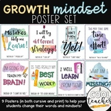 Growth Mindset Posters (Watercolors)