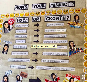 Growth Mindset Posters (With Bitmojis)