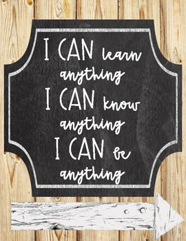 Growth Mindset Posters (Wood Background)