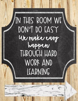 Farmhouse Themed Growth Mindset Posters