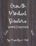 Growth Mindset Posters - Wood Themed!