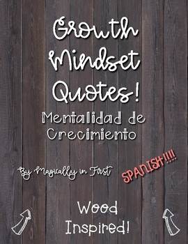 Growth Mindset Posters - Wood Themed_SPANISH