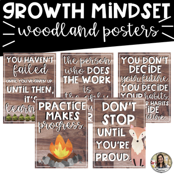 Growth Mindset Posters: Woodland Theme