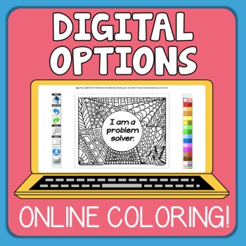 Growth Mindset Coloring Pages: Affirmations Set