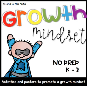 Growth Mindset Posters and Activities for First Weeks of School