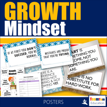 Growth Mindset Posters and Activity
