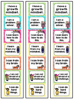 Growth Mindset Posters and Bookmarks