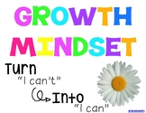 Growth Mindset Posters and Bulletin Board Heading