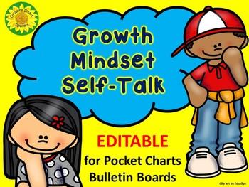 Growth Mindset Pocket Chart and Bulletin Board Visuals