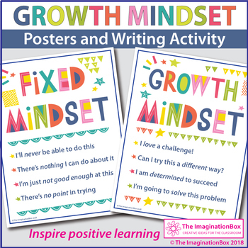 Growth Mindset Coloring Pages and Motivational Posters