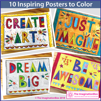Growth Mindset Coloring Pages and Posters