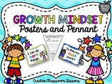 Growth Mindset Posters and Pennant Activity