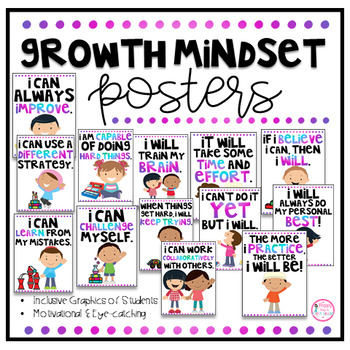 Growth Mindset Posters and Student Booklets