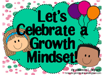 Growth Mindset Posters and Writing Activities (Confetti Kids Bright)